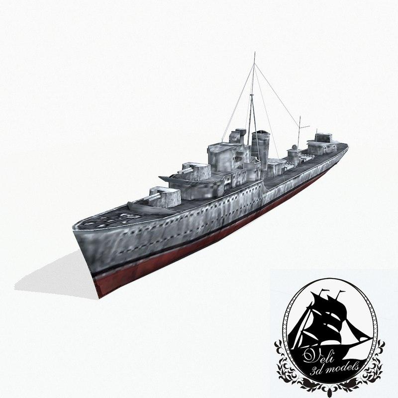 grom-class destroyers groms 3d 3ds