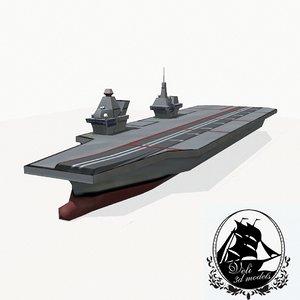 3d queen elizabeth class carrier aircraft model