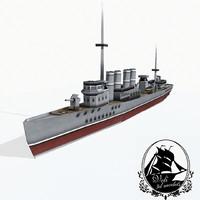 3d model wickes-class destroyers class