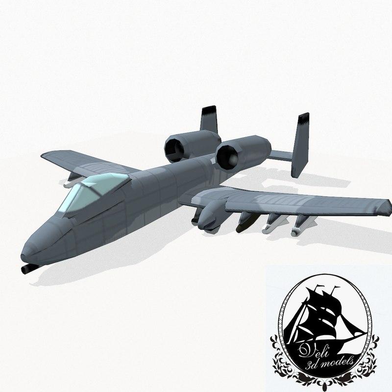 3d fairchild a-10 thunderbolt ii