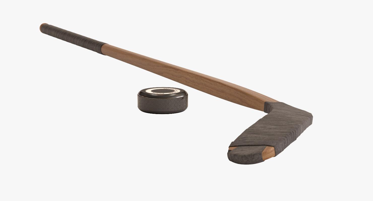3d model stick puck