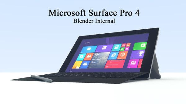 3d model microsoft surface pro 4