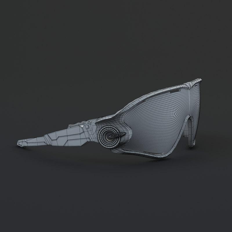 3d model oakley jaw breaker