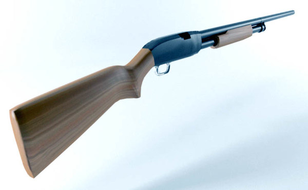 winchester shotgun 3d model