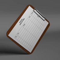 clipboard board 3d model