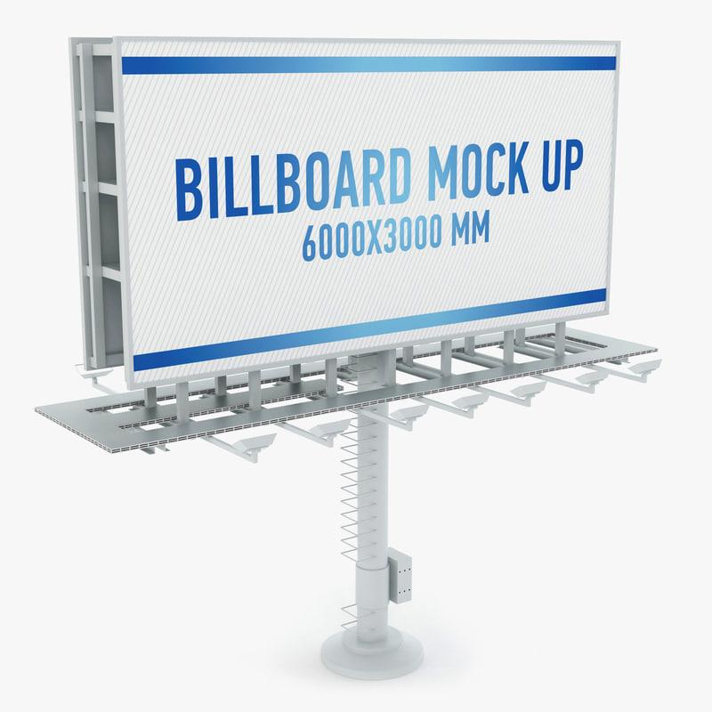 3d model billboard advertising