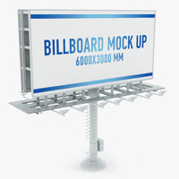3d model billboard advertising