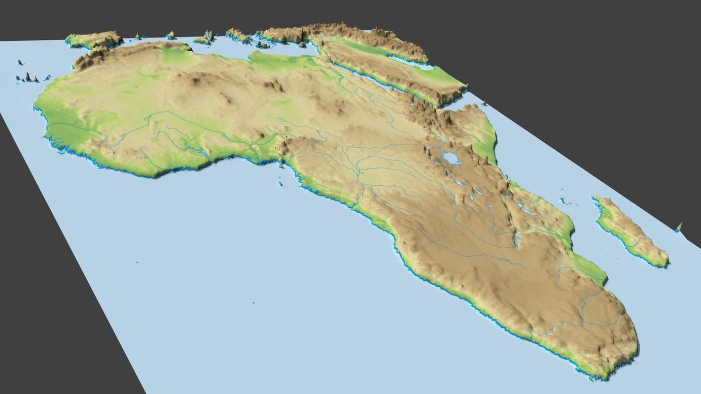 surface africa 3d fbx