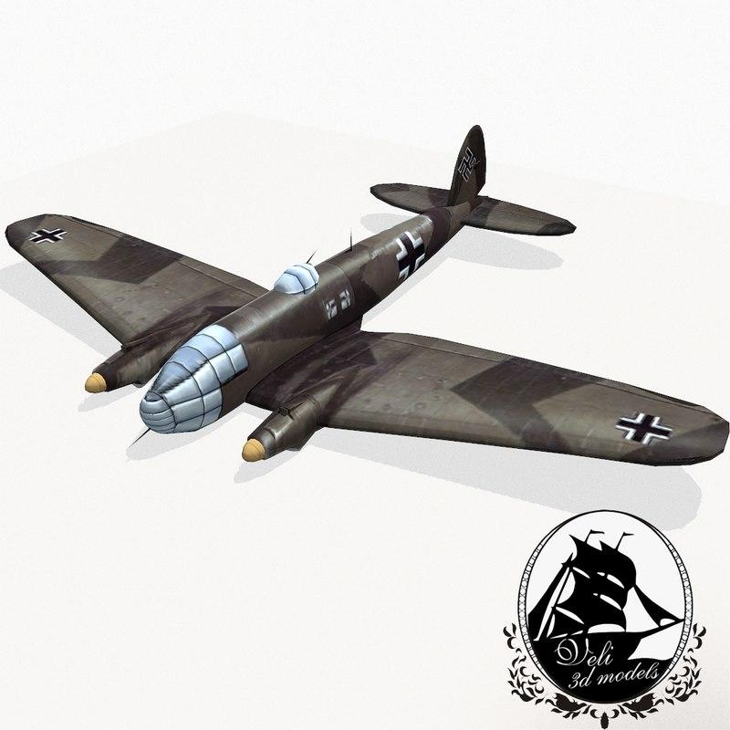 3d model heinkel 111 bomber