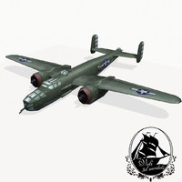 3d model north american b-25 mitchell