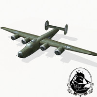 consolidated b-24 liberator bomber 3d model