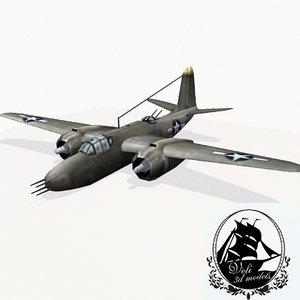 3d max douglas a-20 havoc bomber