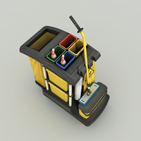 Cleaning Cart - Low Poly
