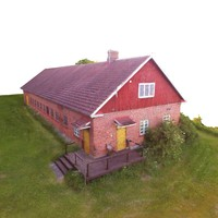 3d model barn photo scanned