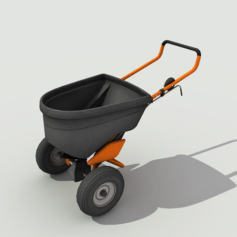 lawn spreader - 3d max
