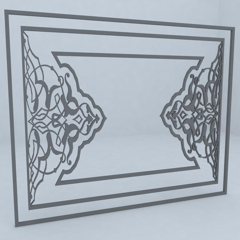 3d model pattern architecture
