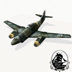 3d messerschmitt 262 fighter model