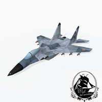 3d mig-29 jet fighter model