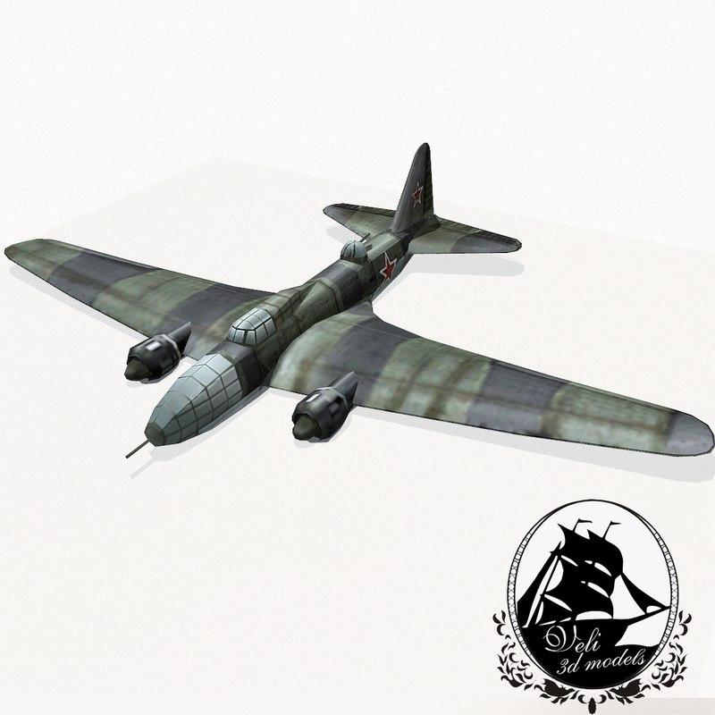 ilyushin il-4 bomber 3d 3ds