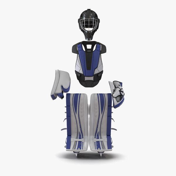 hockey goalie protection kit 3d model