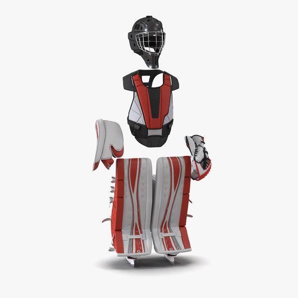3d model hockey goalie protection kit