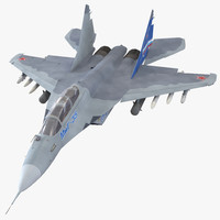 russian jet fighter mikoyan 3d model