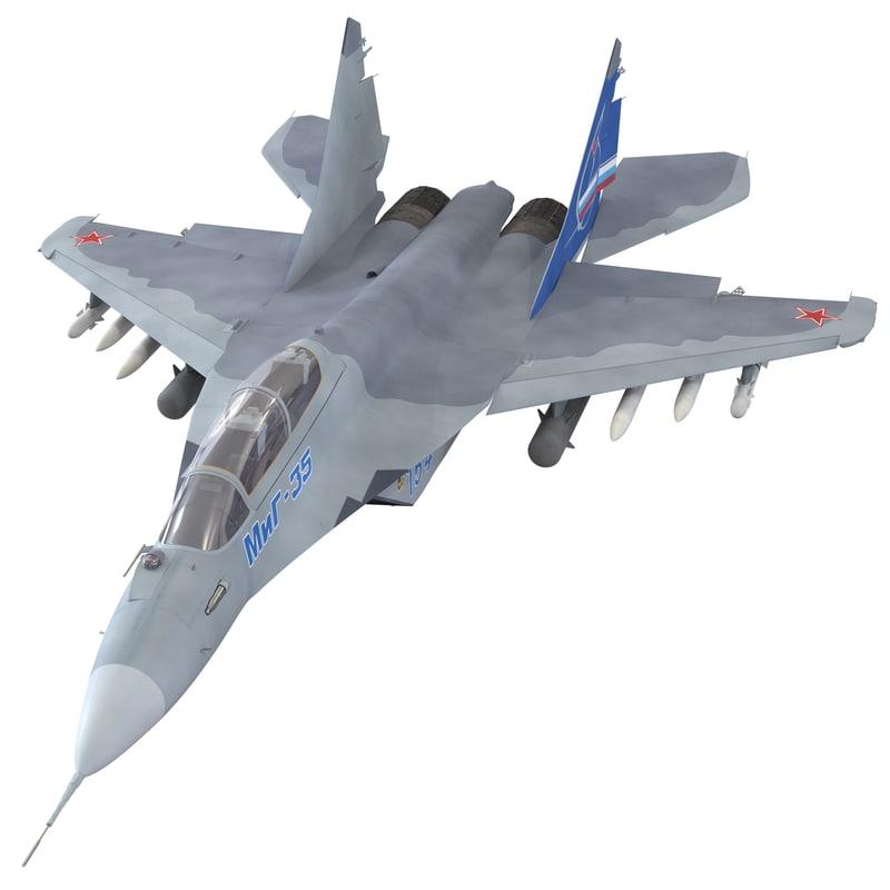 russian jet fighter mikoyan 3d model