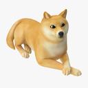 cartoon dog 3D models