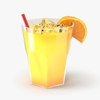 orange cocktail 3d model