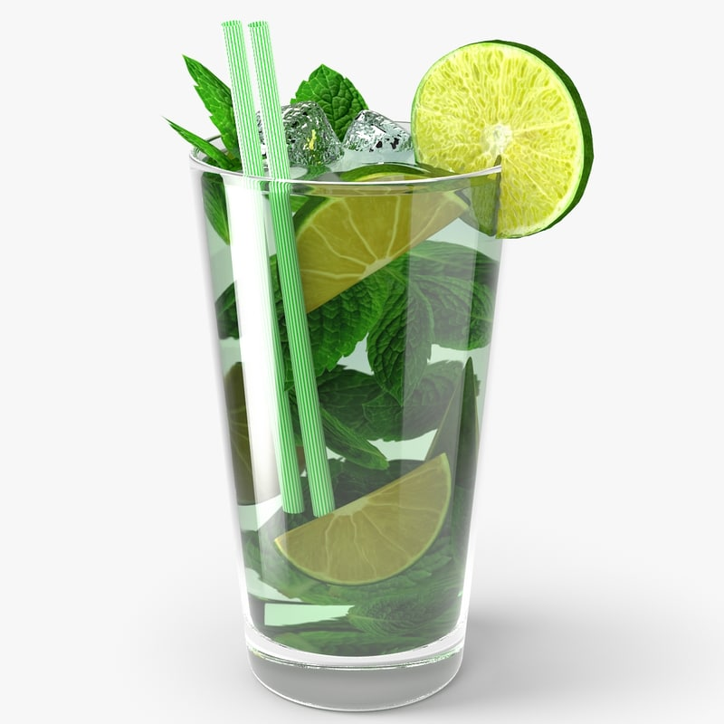 3d model of caipirinha cocktail