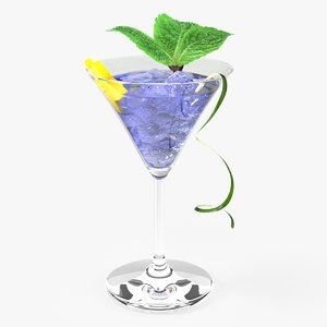 3d max blue cocktail