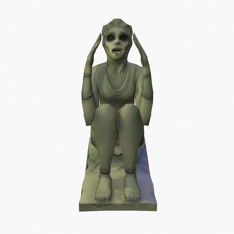 3d model screaming statue