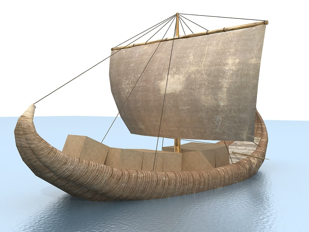 3d old boat sail