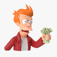 fry shut money - 3d model