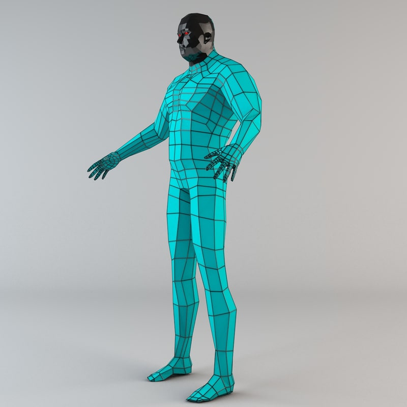 Futuristic Male Human Game Character