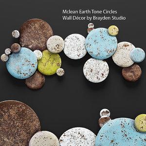 mclean earth tone circles 3d model