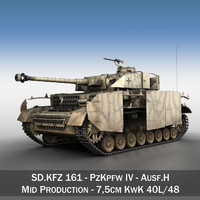 german panzer 4 ausf 3d model