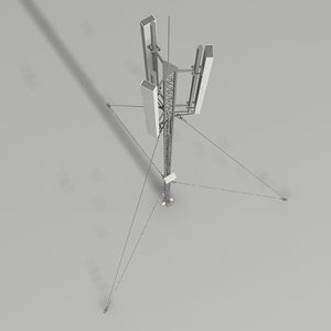 rooftop antenna 3d model