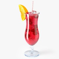 pink cocktail 3d max