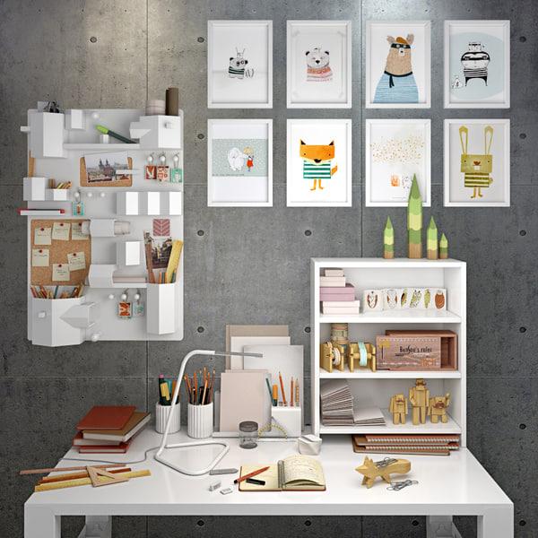 desk decorative 3d max