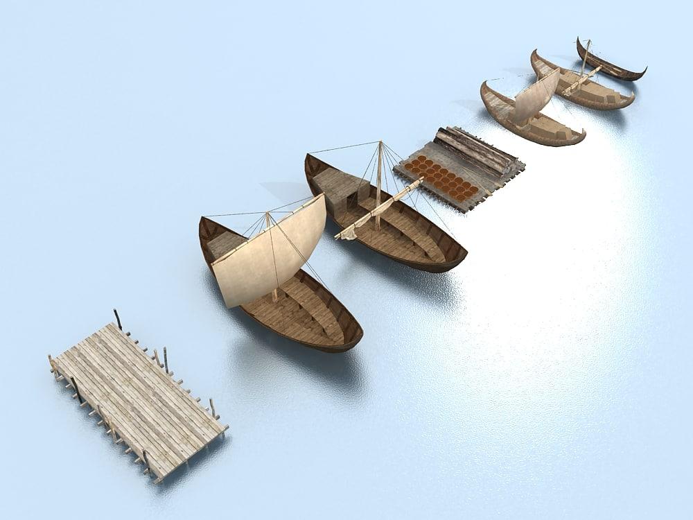 boat set 3d model