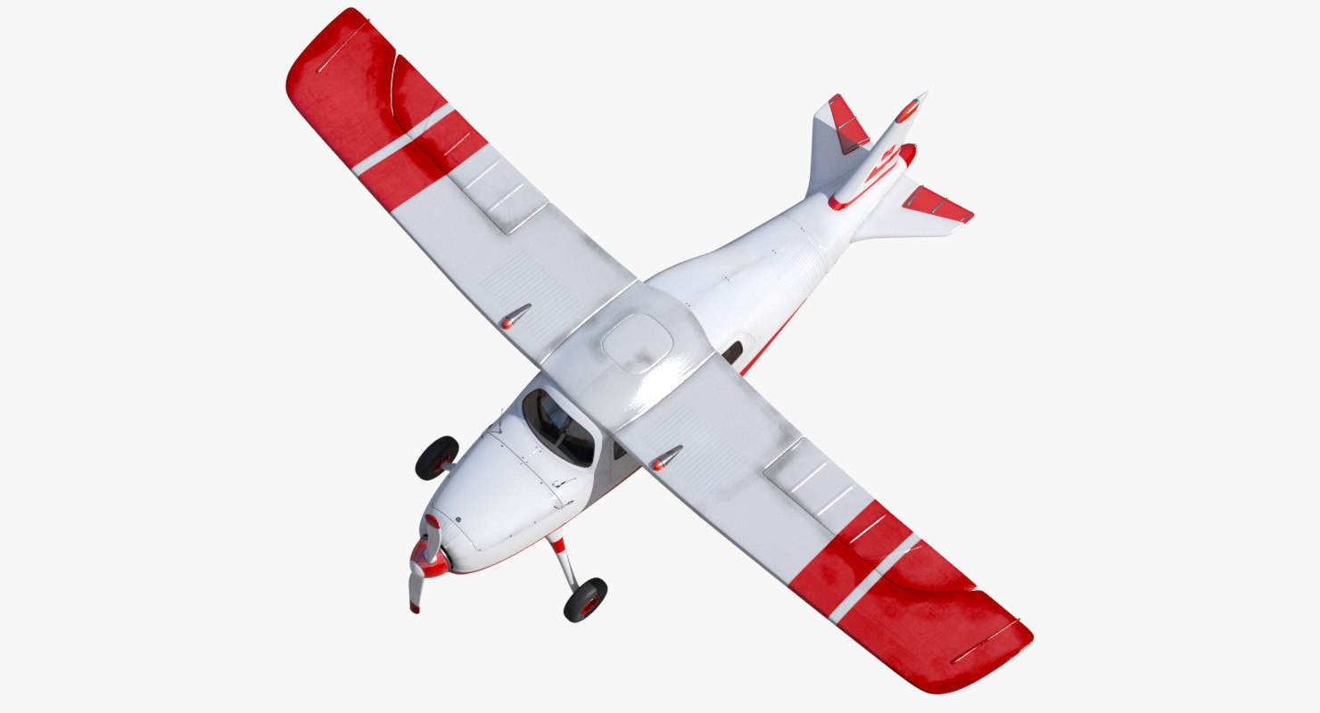 3d model seats light aircraft 2