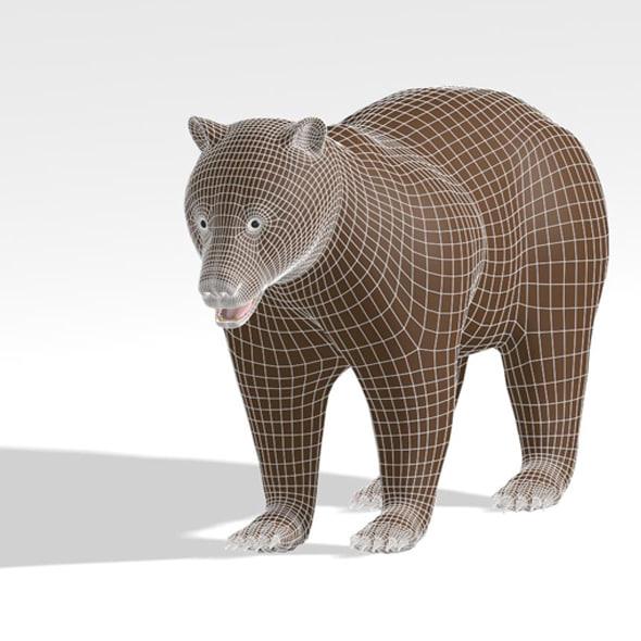base mesh bear 3d max