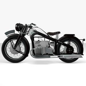 zundapp k800 1933 3d model