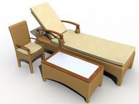 set rattan garden 3d model