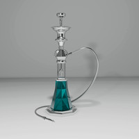 3d hookah smoking model