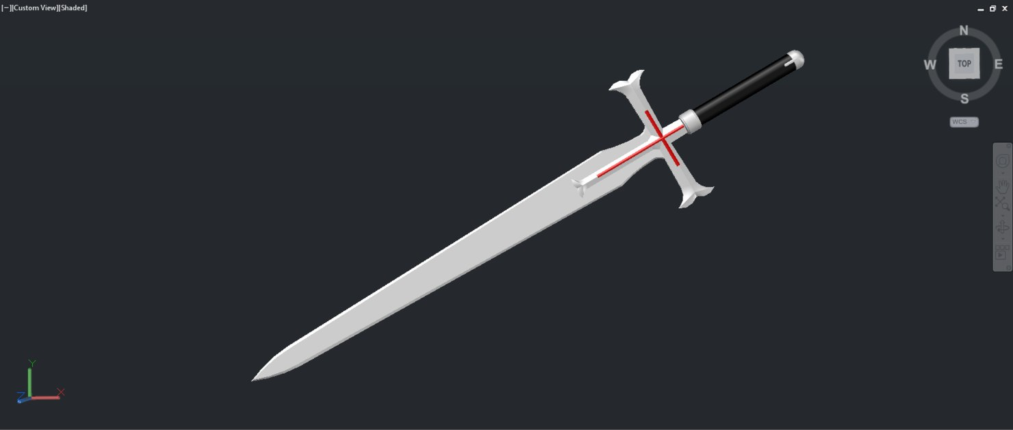 3d heathcliff sword model