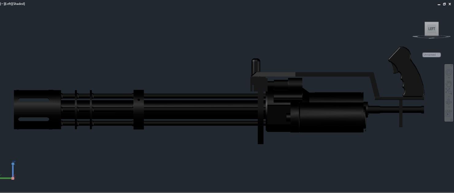 3d minigun model