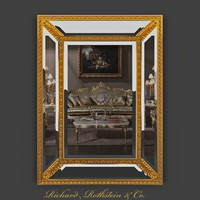 Double Framed Giltwood Formal Mirror
