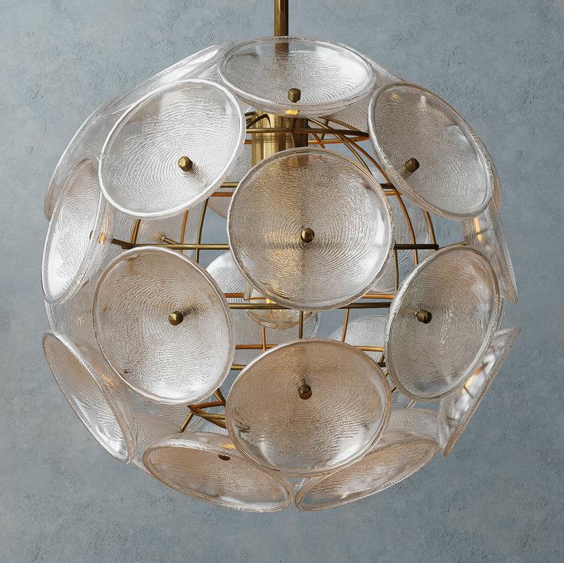 3d west glass disc pendant